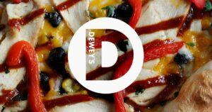 Deweys logo on Don Corleone Pizza